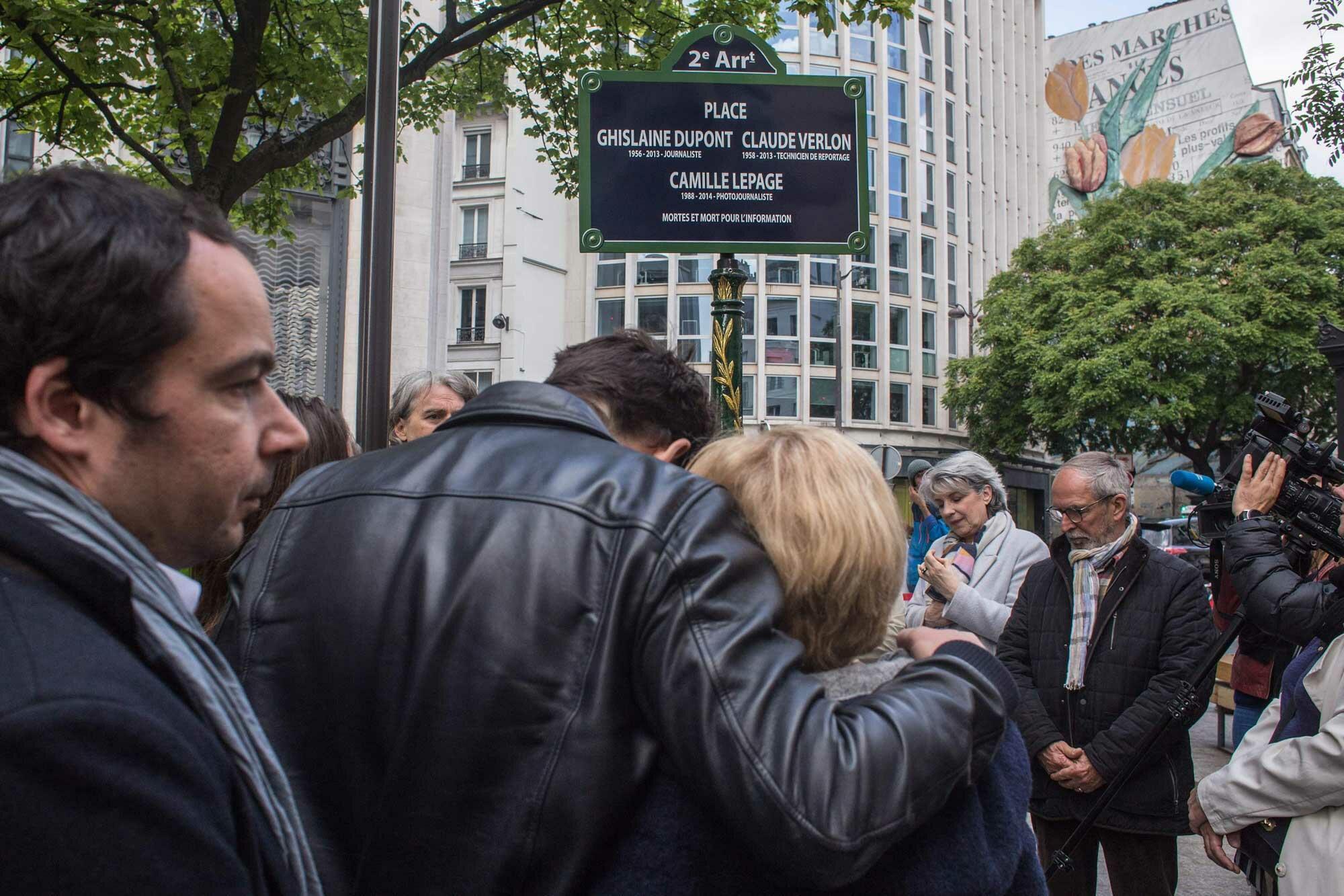 Une place au nom de Camille Lepage à Paris