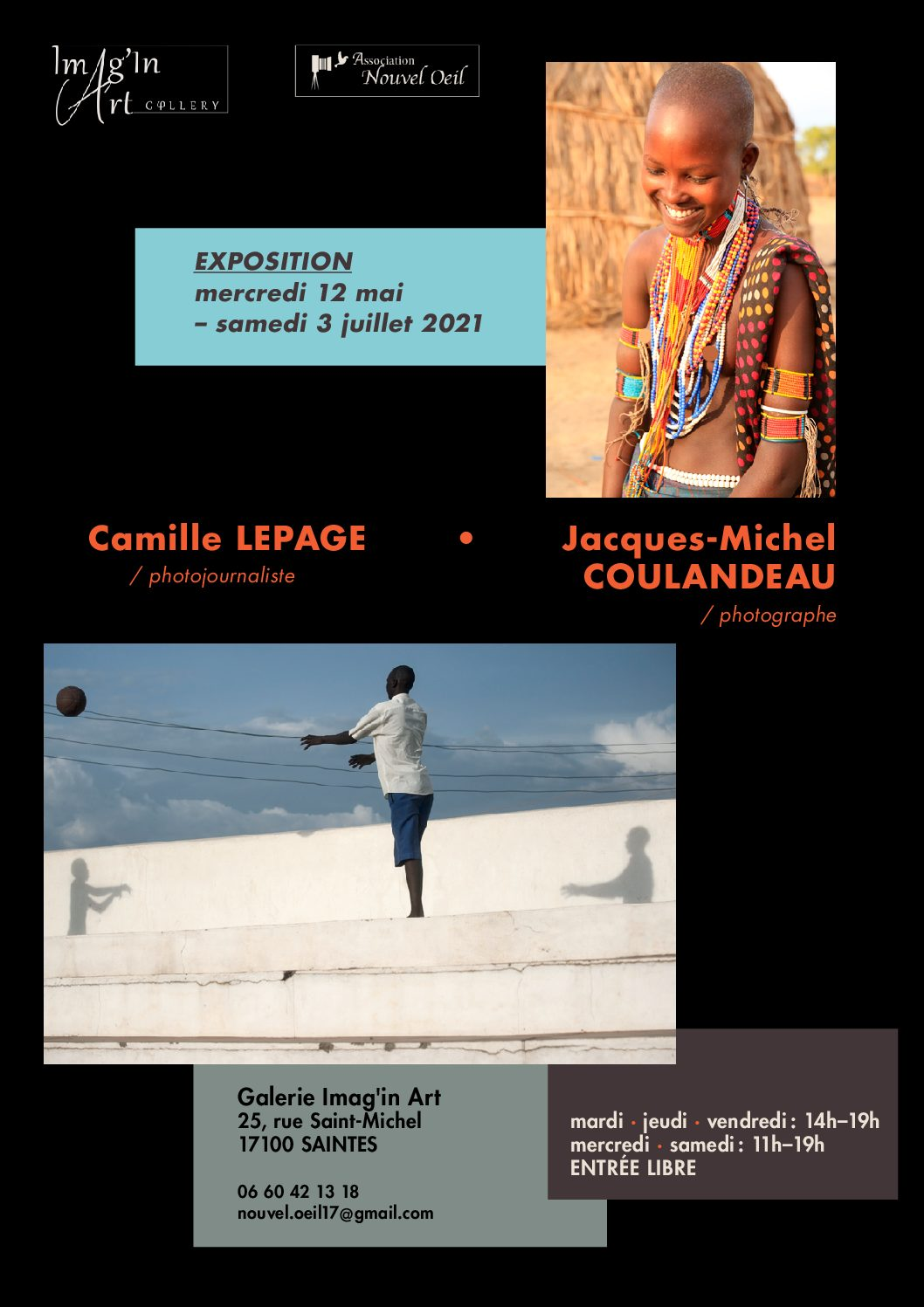 Exhibitions at the Imag'in Art gallery in Saintes – France